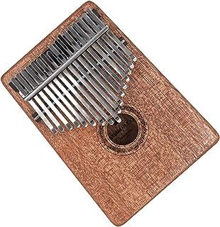 Kalimba Thumb Piano 17 key Finger Piano Mbira Musical Instrument with Tune Hammer (Mahogany)