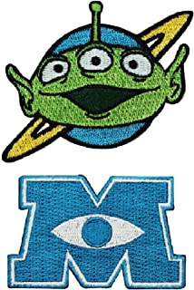Loungefly Disney Pixar Toy Story Alien & Monster Inc M Iron On Cute Patch Set 2