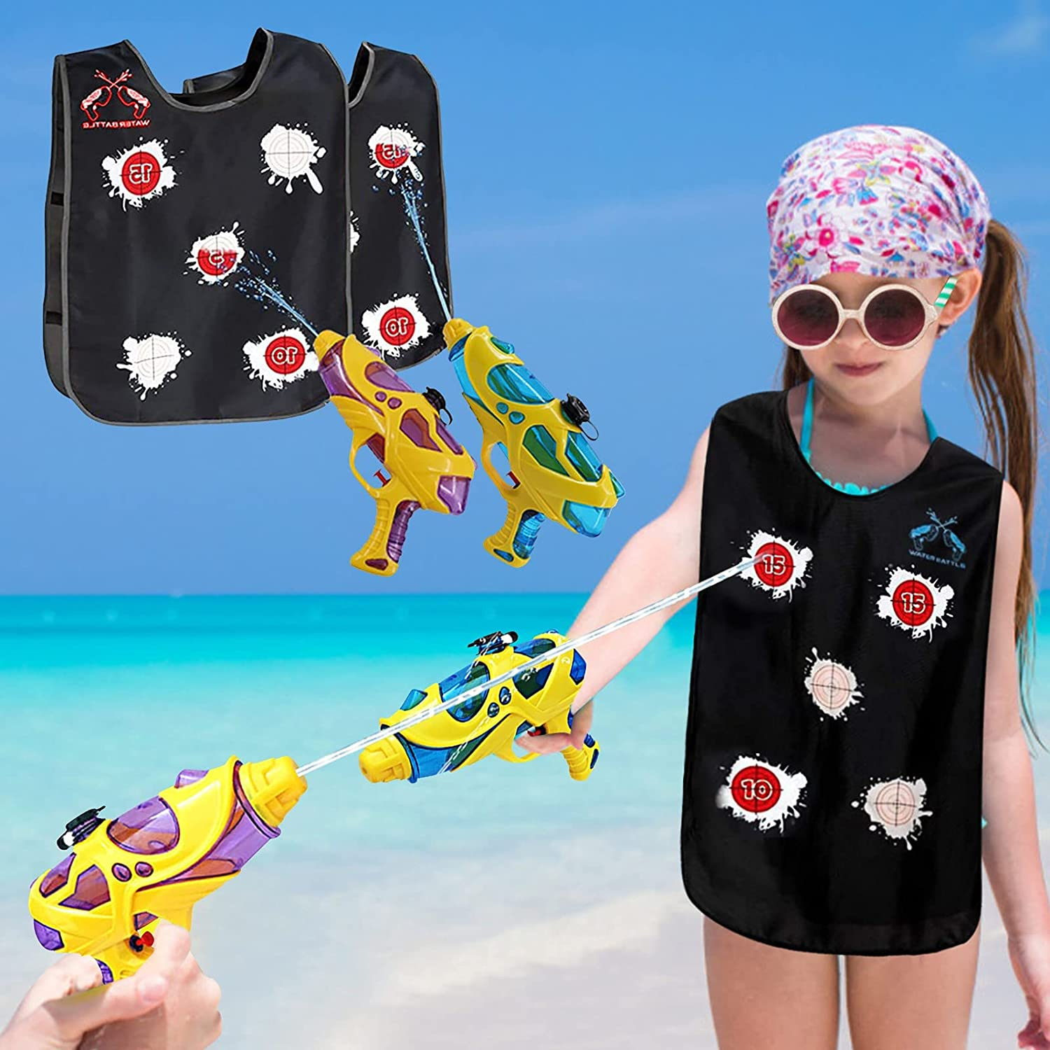 Water Guns supreme Activated Vests 2 Squirt T Pack Super