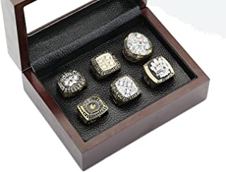 PIT Steelers Championship Rings By Years and Display Box Set