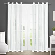 Exclusive Home Apollo Window Curtain Panel Pair with Grommet Top, 50x96, Winter White, 2 Piece