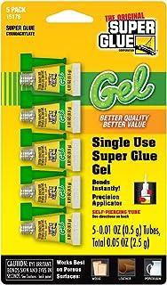 Super Glue Gel 15176-12 Minis یکبار مصرف ، 0.5 گرم ، 5 بسته