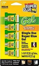 Super Glue Gel 15176-12 Single Use Minis, 0.5g, 5 Pack