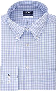 IZOD Men's Regular Fit Stretch Check Buttondown Collar Dress Shirt