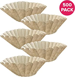 Think Crucial Replacement for Bunn Unbleached Paper Coffee Filter, Fits 12 Cup Commercial Coffee Brewers, Compatible with Part 1M5002 and 20115.0000 (500)