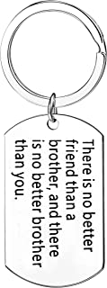 Brother Gifts There Is No Better Friend Than A Brother Keychains For Teen Boys Men Keyring
