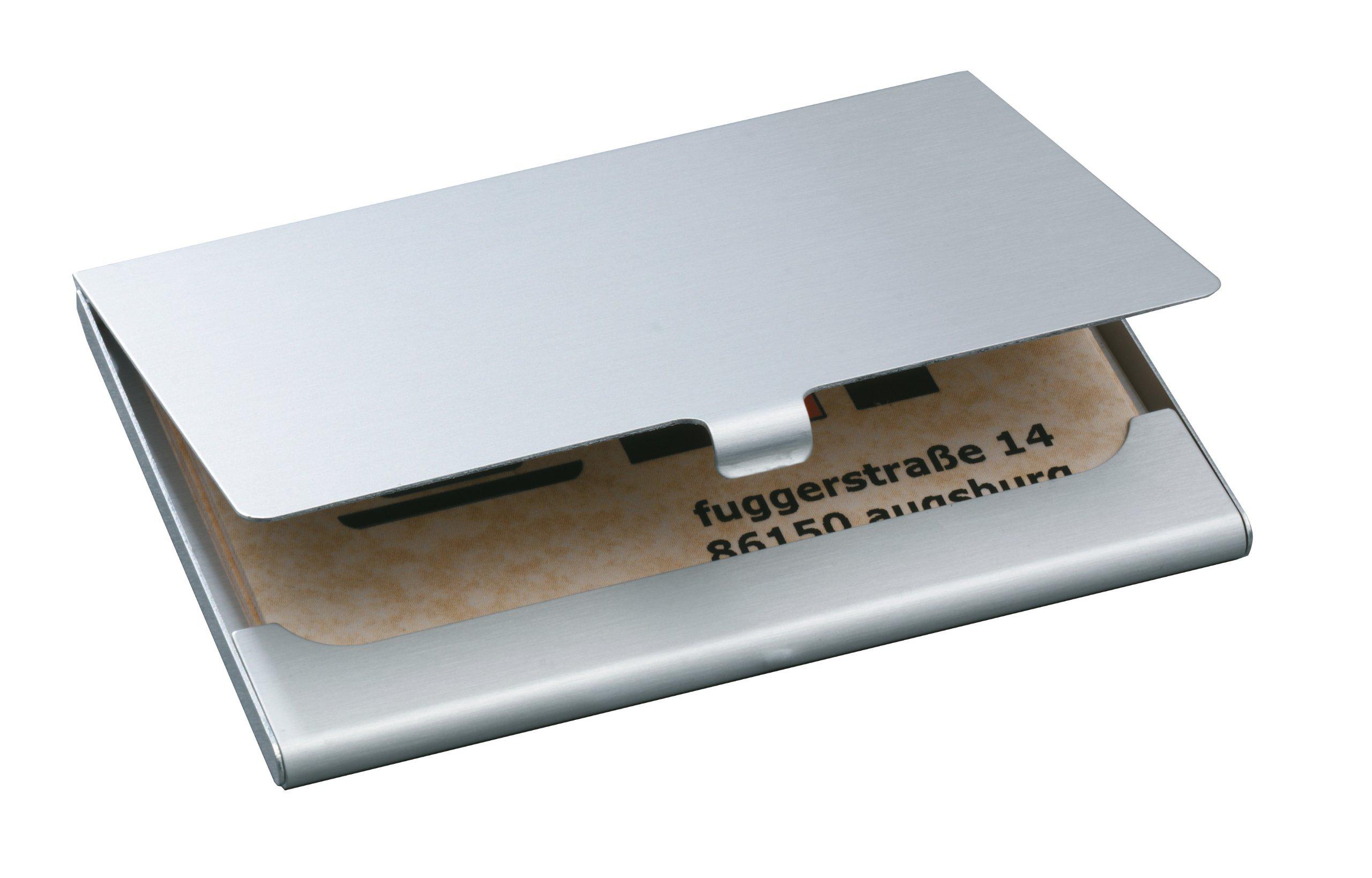 SIGEL VZ135 Tarjetero/Estuche para tarjetas de visita, aluminio para 15 tarjetas: Amazon.es: Hogar