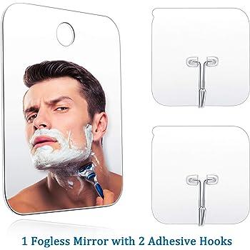 Espejo de Afeitar para Hombres Espejo de Ducha Acr/ílico Antiniebla YD Espejo de Ducha de Afeitar sin Niebla para Ba/ño de Dormitorio Espejo de Afeitar Port/átil de Viaje
