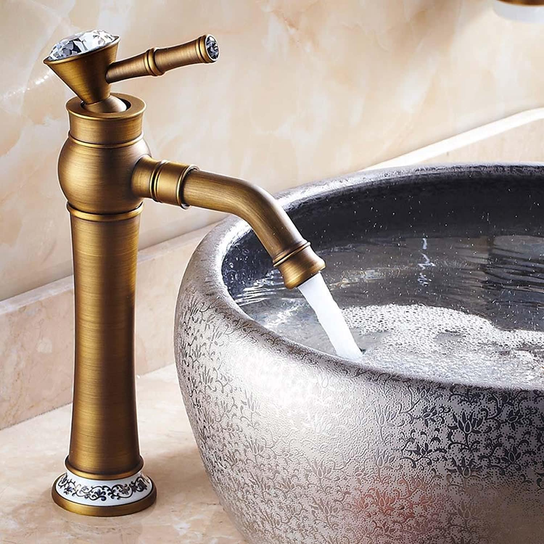 YFF@ILU Home deco-Stil in Europa Rereo Kupfer, Hei- und Kaltwasser becken , tippen Sie auf 2.