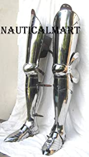 NAUTICALMART Medieval Leg Combat Armor Set, Plate Legs, Cuisses with Poleyns and Greaves