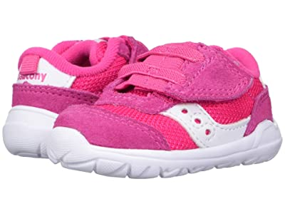 Saucony Kids Originals Jazz Riff Crib (Infant) (Pink/White) Girls Shoes