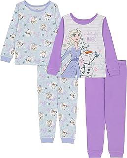Disney Girls' Frozen Snug Fit Cotton Pajamas
