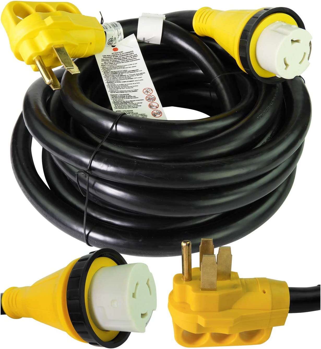 Leisure Cords 25' Power/Extension Cord with 50 AMP
