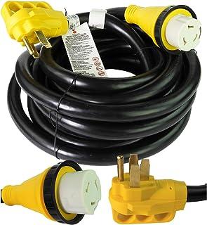 休闲绳 63.50 米电源/延长线带 30 AMP 公头标准/30 AMP 母锁适配器 25 ft