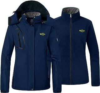 Women's Fleece 3 in 1 Interchange Ski Jacket Waterproof Insulated Coat