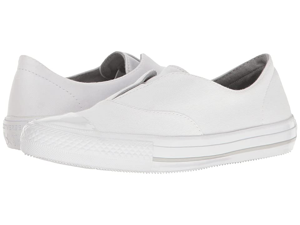 Converse Chuck Taylor(r) All Star(r) Gemma Craft Twill Slip-On (White/White/Mouse) Women