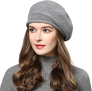 MINAKOLIFE Women Wool French Style Beret Caps Knit Stretchable Artist Hats