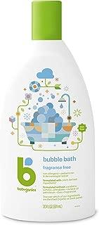 BabyGanics Bubble Bath, Fragrance Free, 20 Ounce