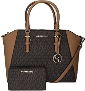 MICHAEL Michael Kors Ciara Large TZ Satchel bundled with Michael Kors Jet Set Travel Slim Bifold Wallet