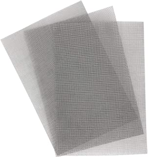 CRAFTBOX 3PCS Flat Stainless Steel Woven Wire 20 Mesh - 12,5