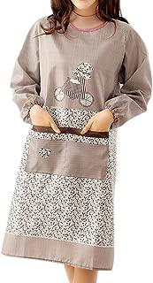 Jiyaru Apron Women Long Sleeve Cooking Dress Home Kitchen Ladies Workwear Coffee