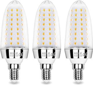 Sauglae Bombillas LED de 15W, Bombillas Incandescentes Equivalente de 120W, Blanco Cálido de 3000K, 1500 lm, Bombillas de Pequeño Tornillo Edison E14, 3 Piezas