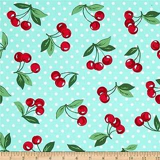 cherry print fabric by the yard