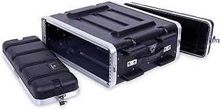 "Crossrock Stackable 3U Rack Case, Strong Molded with Heavy Duty Hardware, Standard 19.25"" Depth(CRA8603U)"