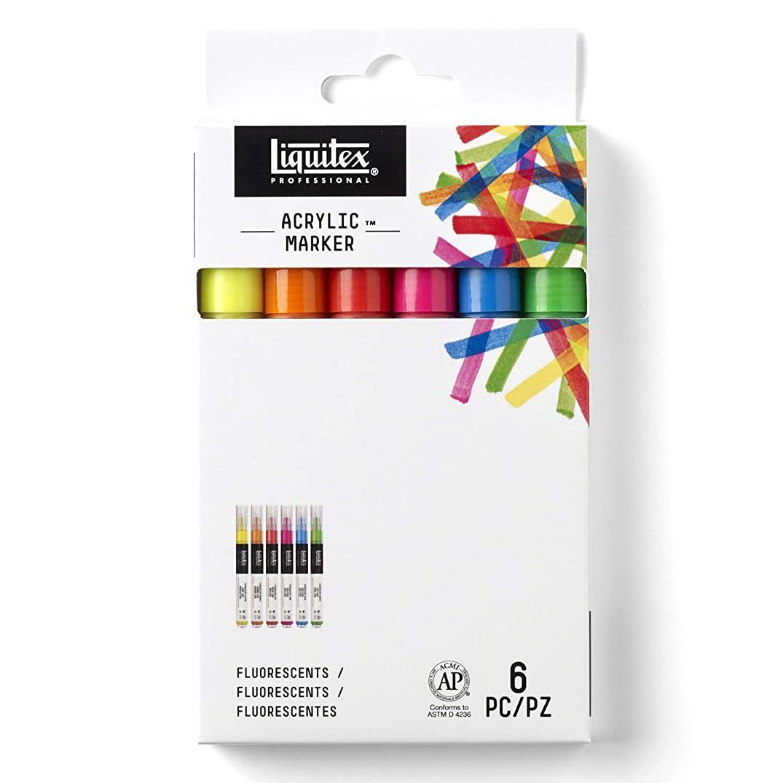 Liquitex Professional Paint Marker - Fine Fluorescent 6-Set