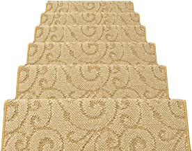 HAIPENG Self Adhesive Stair Carpet Treads Pads Mats Non Slip Staircase Rugs, 12mm, 5 Sizes, 4 Colors (Color : C-100x24x3cm...