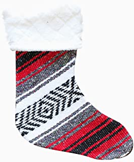 Del Mex Mexican Classic Falsa Christmas Stocking Mexican Falsa Blanket (Red)