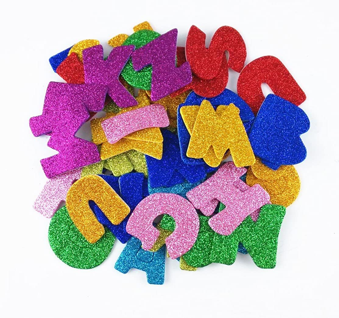 Honbay Pack of 8 Sets (Approx 208pcs) Colorful Self Adhesive Letter Foam Glitter Stickers