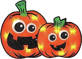 Halloween Lighted Pumpkin Window Decoration