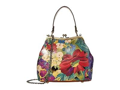 Patricia Nash Laureana Frame Satchel (Citrus Sunrise) Bags