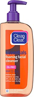 Clean & Clear Essentials Foaming Facial Cleanser, Oil-Free Daily Face Wash with Glycerin to Remove Acne Breakout-Causing D...
