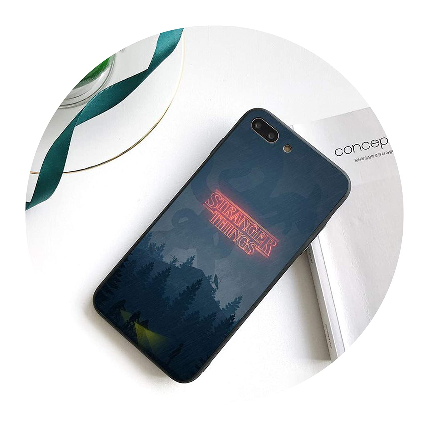 TV Stranger Things Pattern TPU Black Phone Case Shell for iPhone 8 7 6 6S Plus X XS MAX 5 5S SE XR 10 Cover,A13,for iPhone Xs MAX