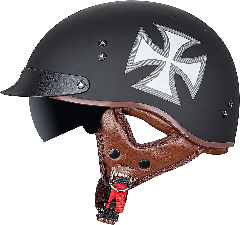 PRETAY Jacksonville Super popular specialty store Mall Motorcycle Helmet Half Retro Helme
