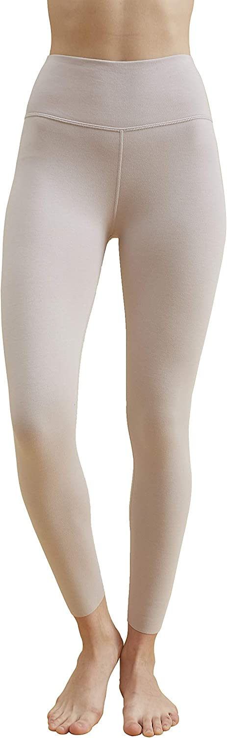 Zylioo Womne's Cotton Fleece Lined High Waisted Thick Leggings Thermal Slimming Seamless Yoga Pants Base Layer Bottom