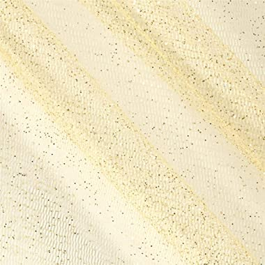 Ben Textiles Inc. Sparkle Tulle Glitter Gold, Fabric by the Yard