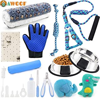 AWOOF New Puppy Starter Kit for Small Dogs, Puppy Supplies Assortments for Newborn Puppy Dog