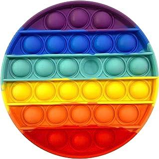 PHONILLICO Fidget Toy Silicone Rond Multi-Couleurs Jeu Anti Stress Push Jouet Toys Bubble