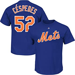 Yoenis Cespedes New York Mets Blue Youth Performance Name and Number Jersey T-Shirt