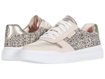 Cole Haan Grandpro Rally Court Sneaker (Natural Boucle/Metallic Leather Soft Gold) Women