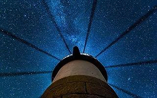 クライド、メイン州、アメリカ、美しい夜、灯台、星 キャンバスの 写真 ポスター 印刷 旅行 風景 景色 (90cmx60cm)