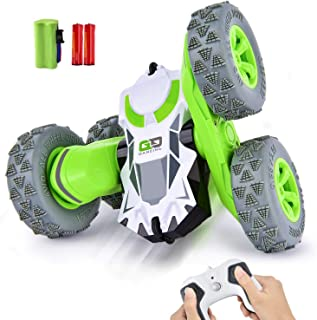 RC Stunt Car , Remote Control Car 360°Flips Double Sided Rotating Vehicles , 2.4GHz 1:28 Super Off-Road Toys Christmas Bir...