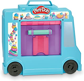 Play-Doh Ice Cream Truck Playset, Pretend Play Toy for Kids 3 Years and Up with 20 Tools, 5 Modeling Compound Colors, Over...