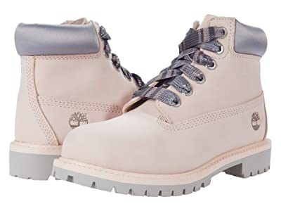 Timberland Kids 6 Premium Waterproof Boot (Little Kid) (Light Pink) Girls Shoes