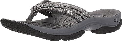 KEEN Wohombres KONA FLIP-W Flat Sandal, Steel gris negro, 9 M US