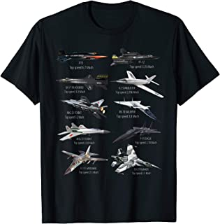 Military's Fastest Jet Fighters Aircraft Plane of the World T-Shirt