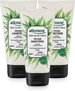 alkmene Handcreme mit Bio Aloe Vera - Handcreme für sehr trockene Hände - vegane Handcreme ohne Silikone, Parabene, Mineralöl, PEGs, SLS & SLES im 3er Vorteilspack 3x 75 ml